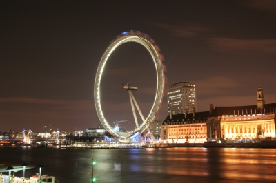 London Eye in der Nacht