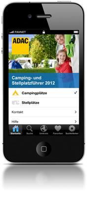 ADAC Camping- und Stellplatzführer App für iPhone