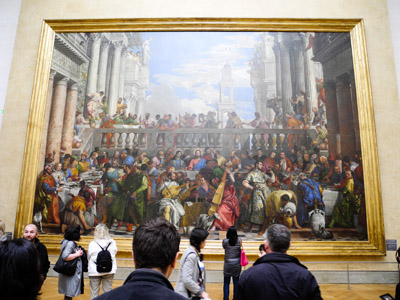 Beeindruckend: riesiges Ölgemälde im Louvre