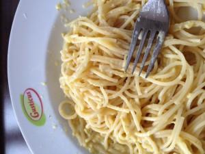 Gusticus Spaghetti Carbonara - wo ist der Speck / das Fleisch?